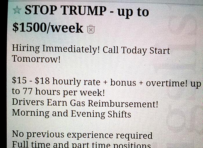 Stoppa Trump-annons