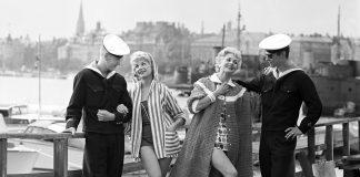 Stockholm 1958 - modevisning - Foto: Sjöberg Bildbyrå
