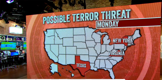 Bild: Terrorvarning 4 nov 2016 i USA - CBS News
