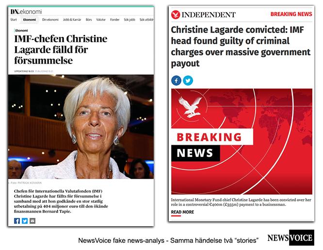 "IMF-chef Christine Lagarde döms för ""slarv"""