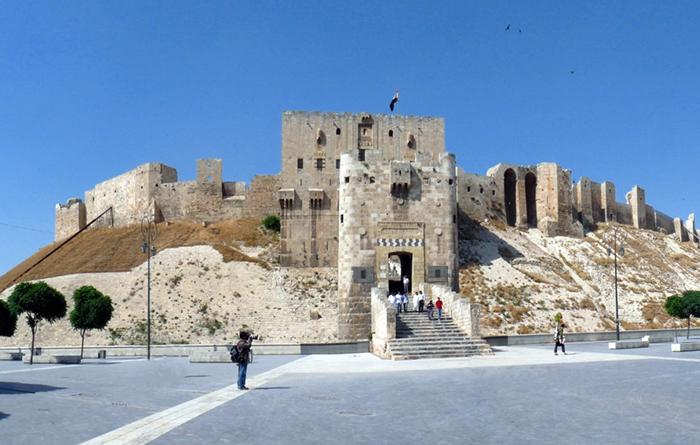 Citadellet i Aleppo, Syrien