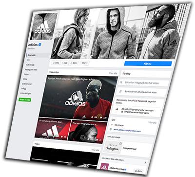 Facebook Adidas dec 2016