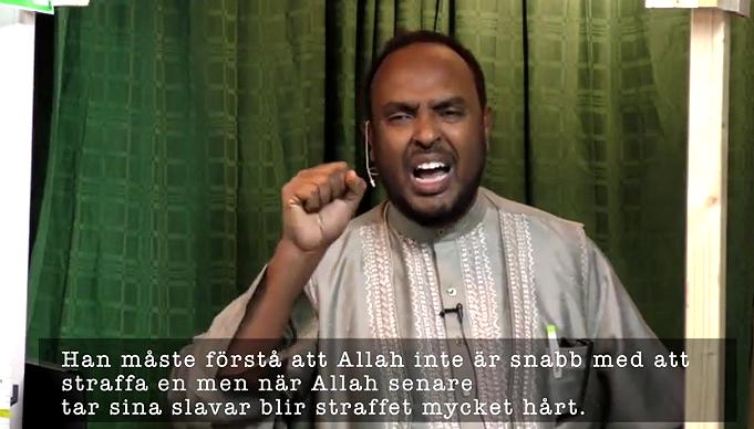 Imamen Abdikadir Noor tar upp Guds straff - Video: Facebook-grupp