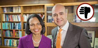 SVT Toppmötet med Fredrik Reinfeldt och Condolezza Rice - Foto: SVT.se