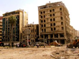 Aleppo bombat, Syrien