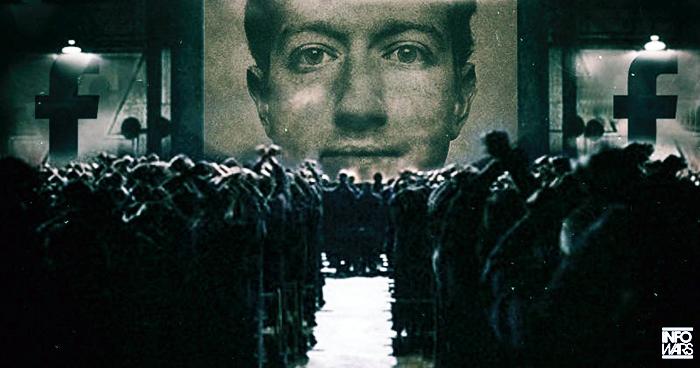 Zuckerberg à la 1984 - Image: Infowars.com