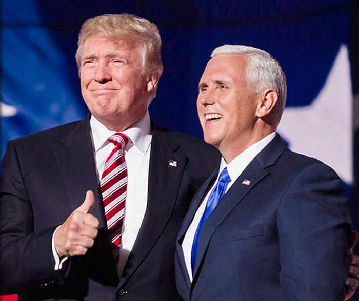 President Donald Trump och vice president Mike Pence