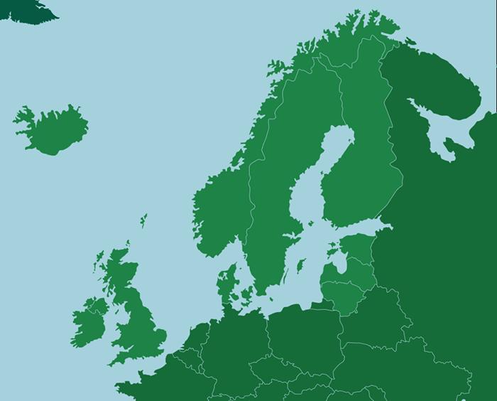Nordeuropa - Källa: online.seterra.com