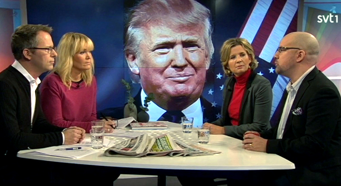 SVT1 Studiodebatt om Trump 12 januari 2016