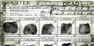 Picture: Al Capone's fingerprint card