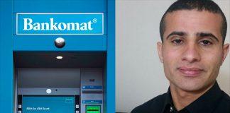 Bild: Ahmed Tahir och en bankomat - Wikimedia Commons resp. privat foto
