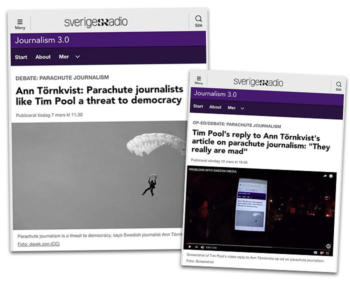 Ann Törnkvist - en journalist inom det svenska etablissemanget - anklagar Tim Pool