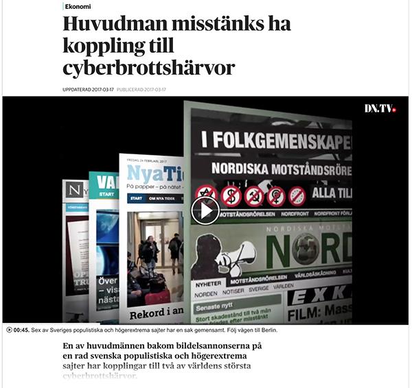 Artikel om bildelar online - DN.se, skrämdump