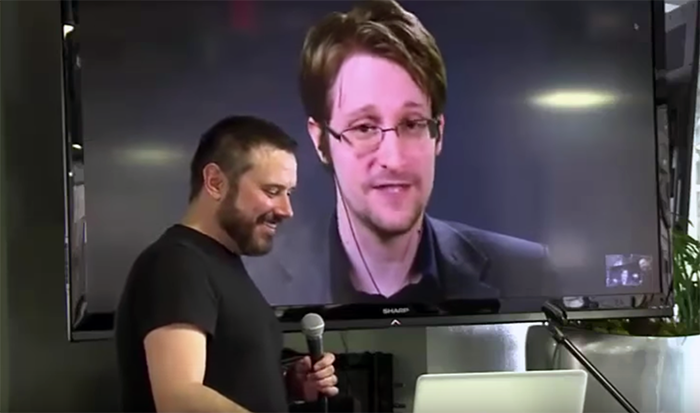 Edward Snowden interviewed by Jeremy Scahill - Photo: RT.com