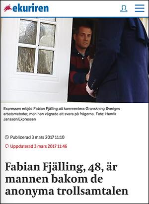 Eskilstunakuriren, 3 mars 2017