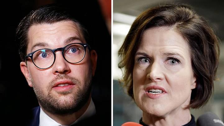 Jimmy Åkesson från SD och Kinberg Batra från Moderaterna - Foto: IBL.se