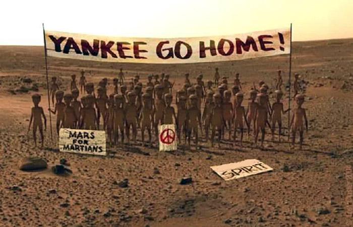 Mars: Yankees go home