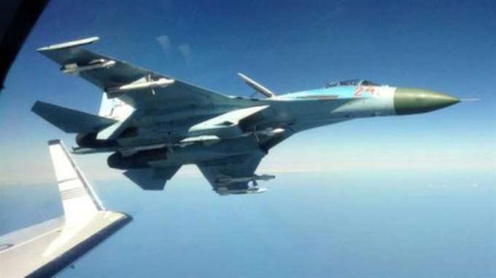 Ryskt stridsflygplan - Foto: avenska flygvapnet via FRA, 2014