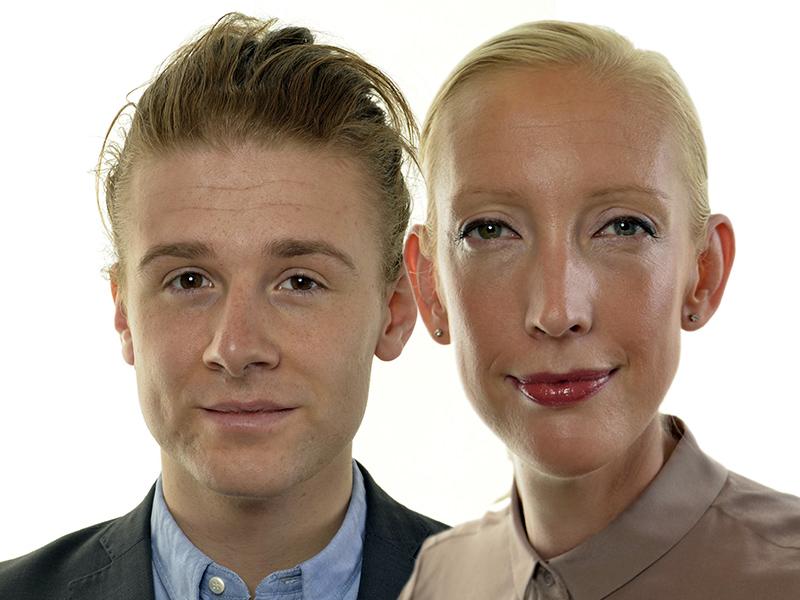Sofia Arkelsten och Jesper Skalberg Karlsson vill ha tvångsvaccinering - Pressfoton: Riksdagen