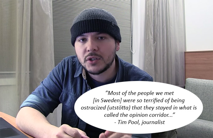 Tim Pool, video selfie with quote