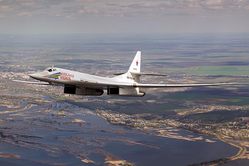En rysk Tupolev Tu-160 - Foto: Alex Beltyukov, Wikimedia Commons