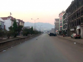 Another empty main street in Bamenda, 2017 - Photo: Wilson Musa