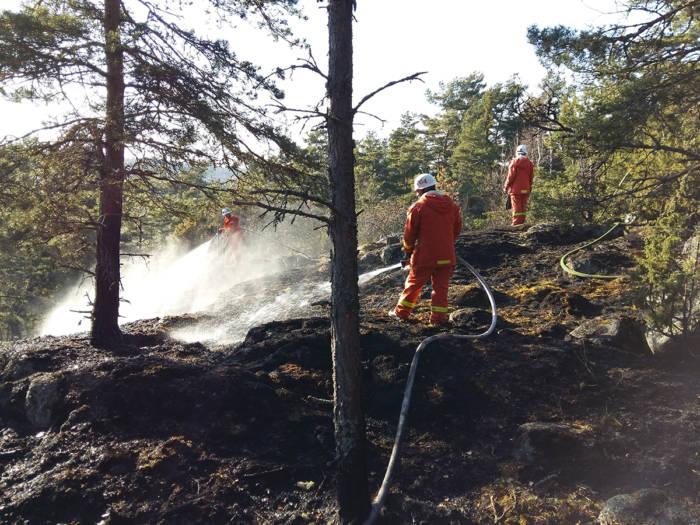 Glödbrand på Muskö 30 april 2017 - Foto: T. Sassersson, NewsVoice