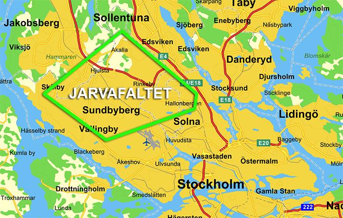 Jarvafaltet near Stockholm