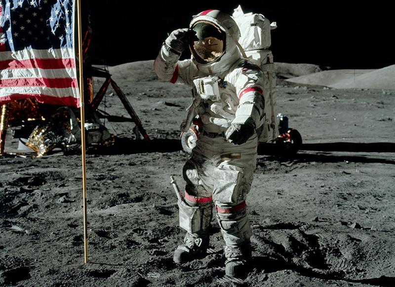 Apolloprogrammets månlandningar var framgångsrika - Foto: NASA, public domain