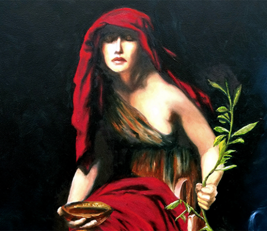 Oracle of Delphi - Painter: John Collier, 1891