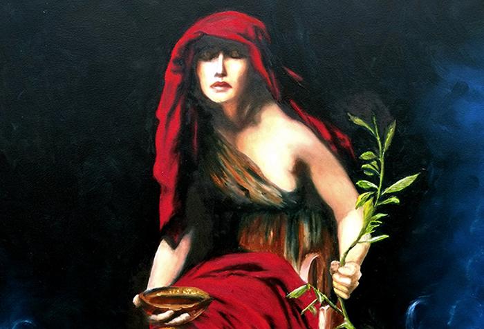 Oracle of Delphi - Painter: John Collier,   1891