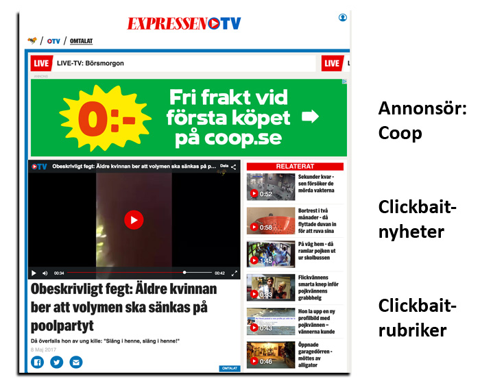 Clickbait Expressen