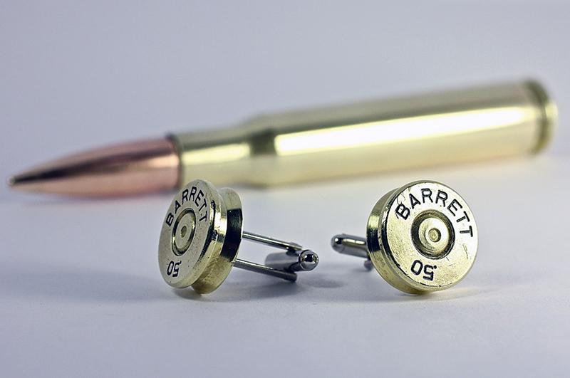 Bullet Cufflinks Barrett 50 BMG