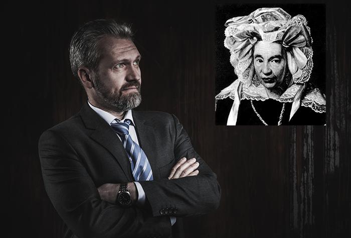 Gutle Schnaper Rothschild collage och en affärsman - Kollage, Crestock och okänd kompositör