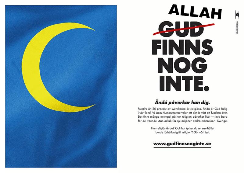 Allah och Gud finns nog inte - Humanisterna