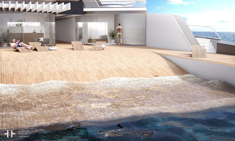 108M mega yacht concept - Pressfoto: Hareide Design