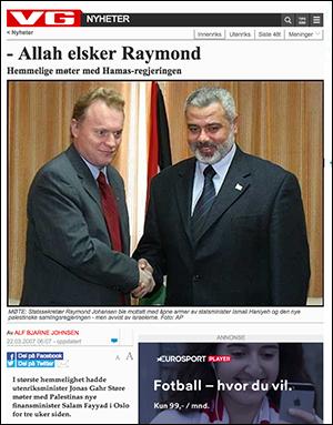Allah elsker Raymond Hemmelige møter med Hamas-regjeringen