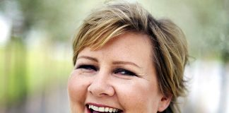 Erna Solberg - Foto: Christian Fredrik Wesenberg, Wikimedia Commons