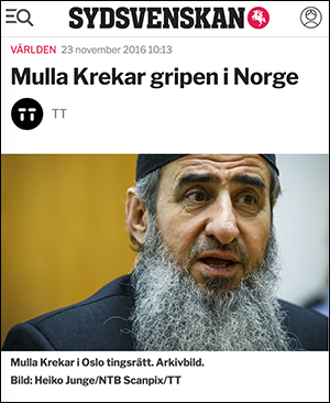 Mullah Krekar gripen - Sydsvenskan
