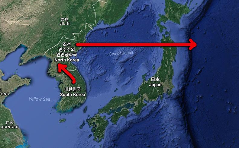 Nordkorea utförde missiltest över japan aug 2017