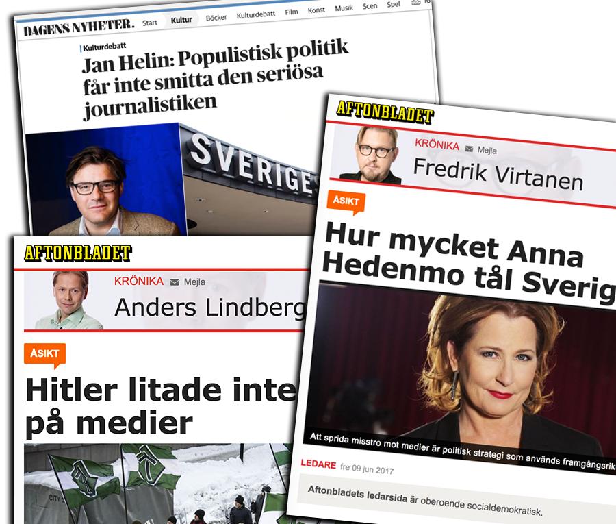 Mediemisstroendet diskuteras i svensk ankdamm
