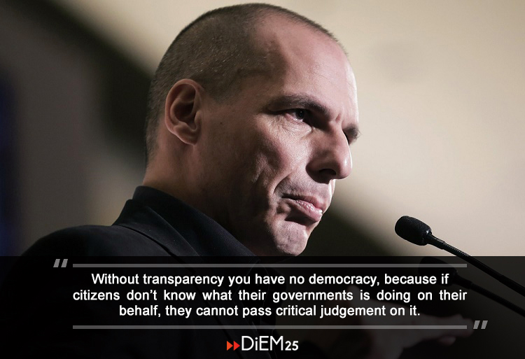 Varoufakis citat - Bild: Diem25