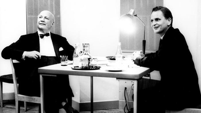 Herbert Tingsten och Olof Palme, 1961