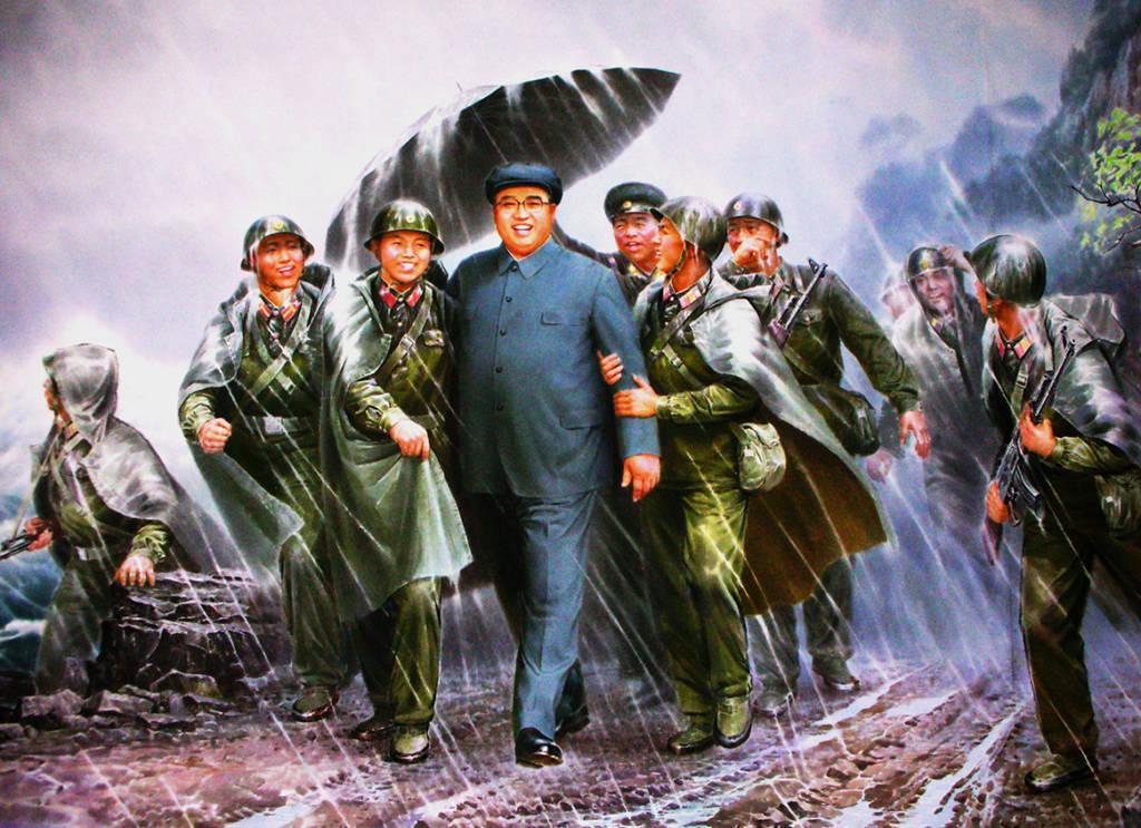 Kim Jong-Il, propagandakonst - Bild: Nordkoreas administration