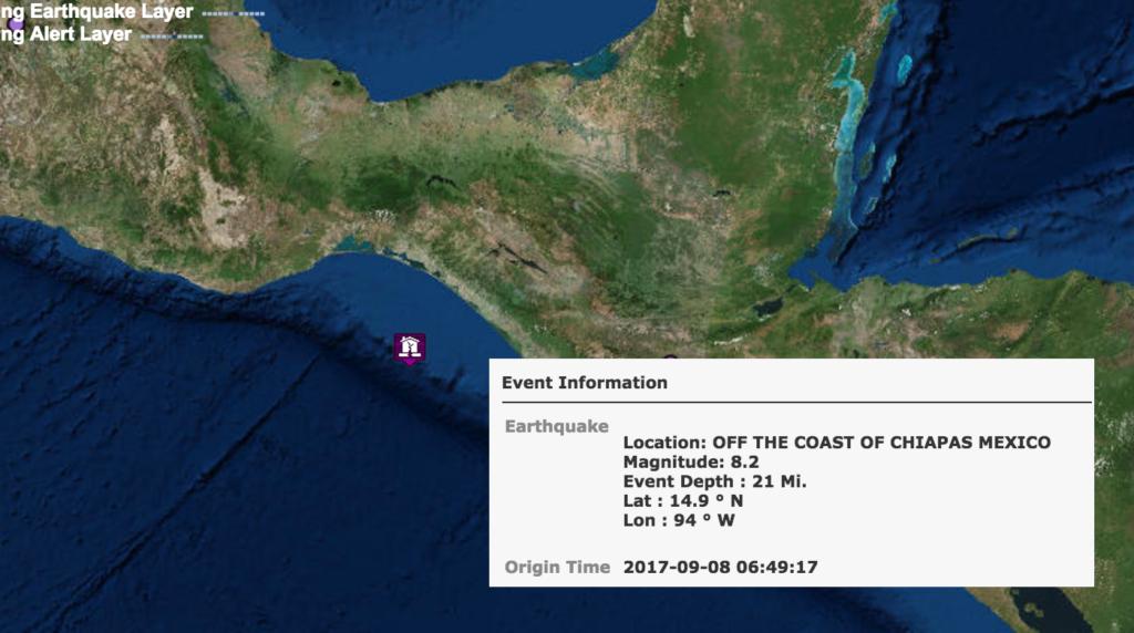 Mexico earthquake 2017 -Tsunami.gov