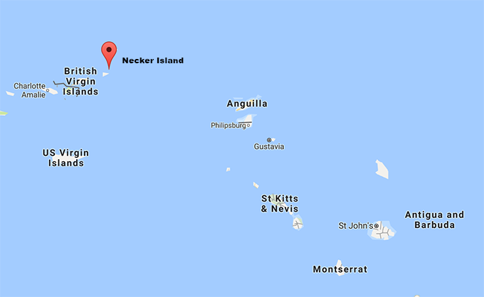 Necker Island och Barbuda - Google Maps