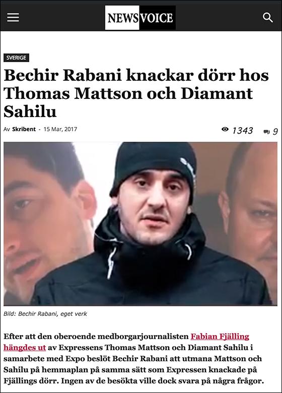 NewsVoice skriver om Expressens påhopp på Rabani
