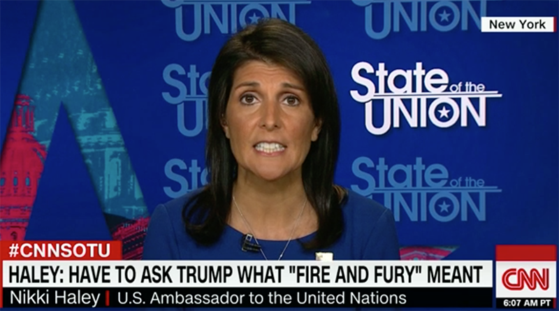 Nikki Haley - Foto: CNN,   17 sep 2017
