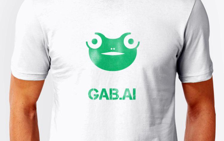 Gab.ai T-shirt med logo - Foto: Gab.ai