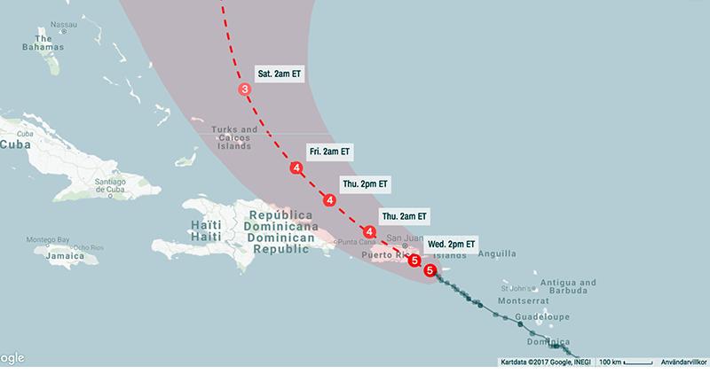 Orkanen Maria - Google